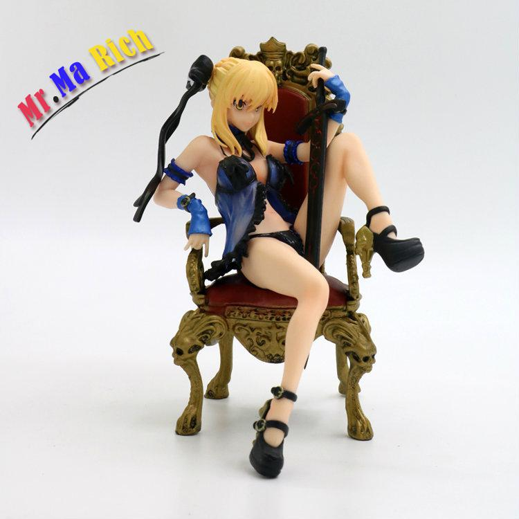 Fate Stay Night Black Saber Throne Sexy Pajamas Model Doll Pvc 16cm Box-packed Japanese Anime Figurine Action Figure 170623 free shipping 10pcs ics2439m