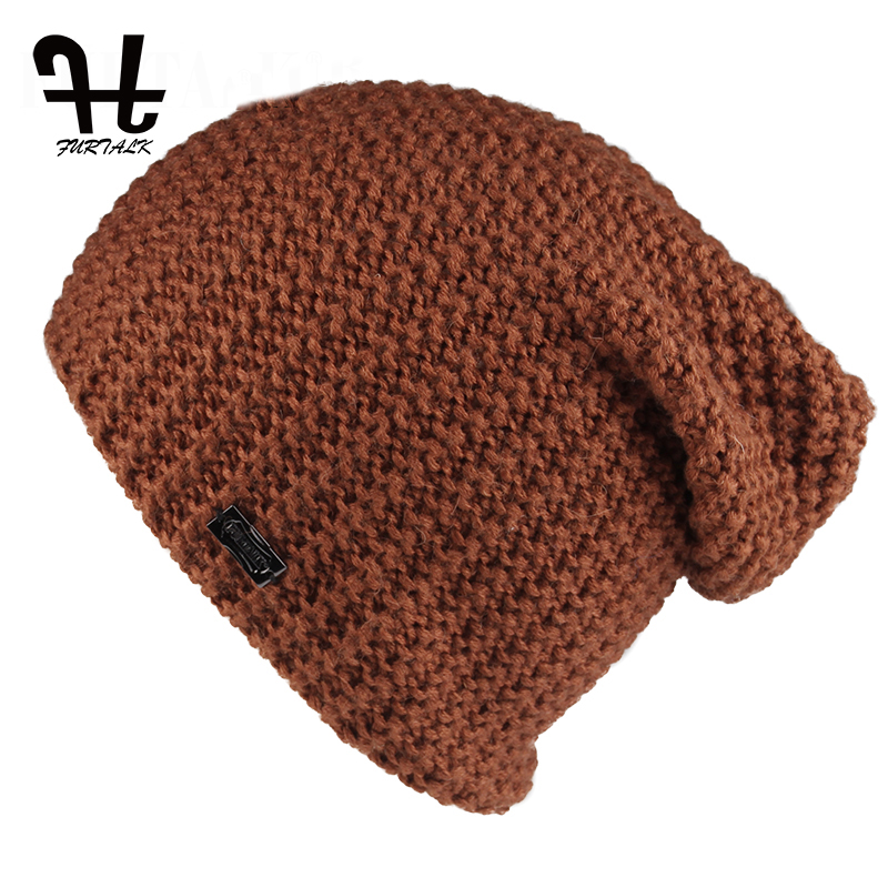 furtalk Women s beanies knitted Slouchy hats for Spring and Autumn wool beanies female fashion skullies