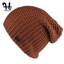Furtalk женские шапочки вязаные Громоздкая Сумка шляпы для Весна и Осень шерсть шапочки женской моды skullies повседневная лыжные шапки