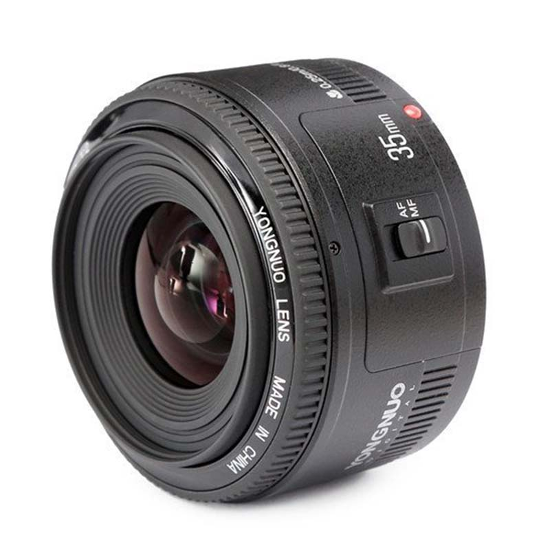 Top Deals YN35mm F2 Lens 1:2 AF / MF Wide-Angle Fixed/Prime Auto Focus Lens For Canon EF Mount EOS Camera