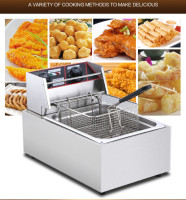 Electric Deep Fryers Blast furnace single cylinder deep frying pan fry potato tower machine.NEW