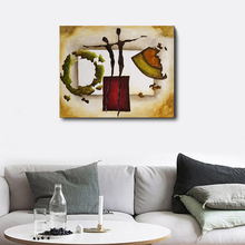 Laeacco Nordic Graffiti Wall Artwork Posters and Prints Abstract Canvas Painting For House Home Living Room Decoration