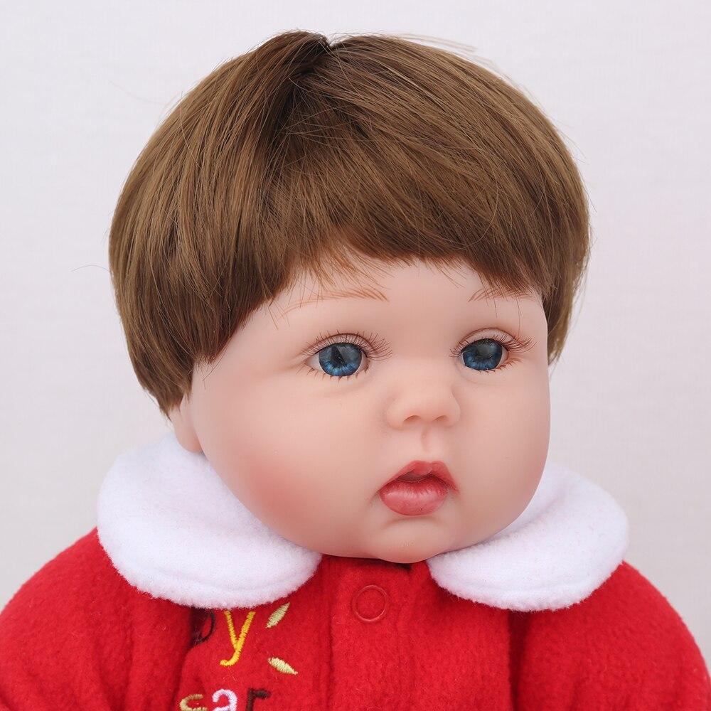 NPKDOLL Reborn bébé poupée en Silicone souple 18 pouces rose filles en peluche jouets enfants Playmate anniversaire noël cadeau Bebe Reborn - 4