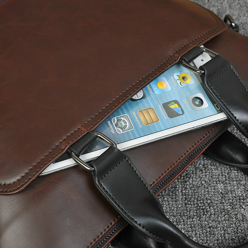 New Design PU Leather Briefcase for Men 11