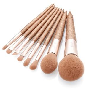 Image 2 - Jessup 8 pcs Professional foundation brush Powder Blusher Contour Pencil Eyeshadow Make up brushes Synthetic hair Cosmetic