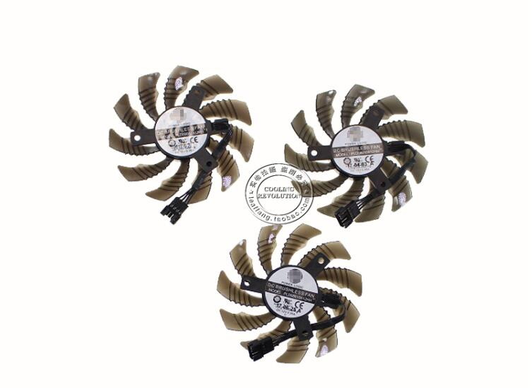 Set of 3pcs New For Gigabyte GTX1050 1060 1070 1080 N970 For PowerLogic PLD08010S12H GPU Video Display Graphics Card Cooling Fan image
