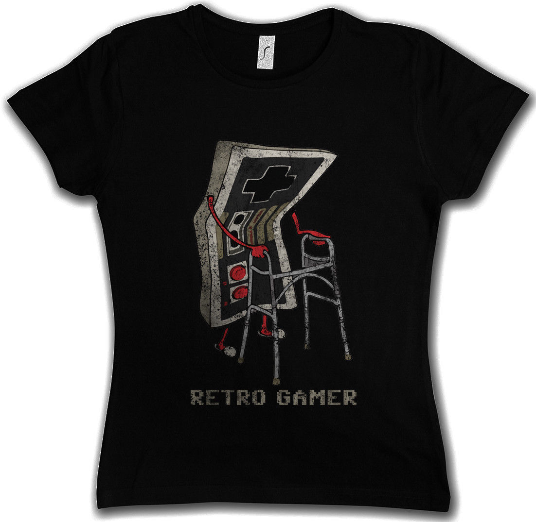 Summer 2017 Cotton T Shirts Retro Gamer Women T Shirt Gaming Admin Pc Fun Shirt Grandfat ...