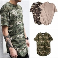 GMANCL Hipster Streetwear Men Women T Shirt Hip Hop Clothes Swag Urban Clothing Camouflage Striped Oversized