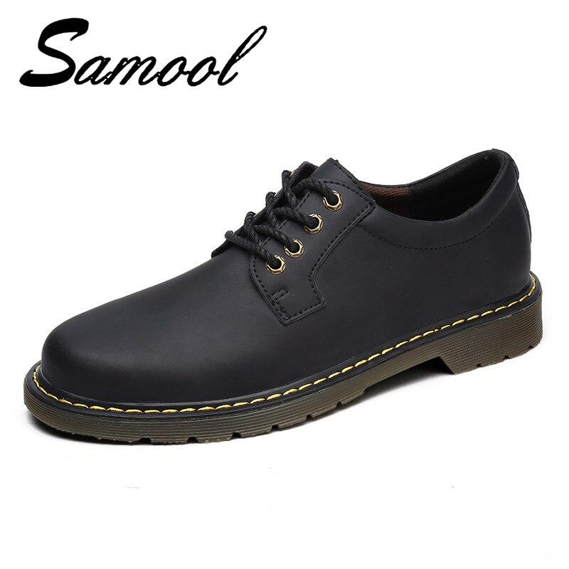Осенняя рабочая обувь, Мокасины, chaussure homme, мужская обувь из натуральной кожи, классические рабочие ботильоны, мужские зимние прогулочные бо...