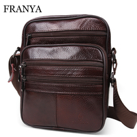 Genuine Leather Bags Messenger Bag Men Leather Brand Handbags Elunico Fashion Casual Business Leather Mens Handbag