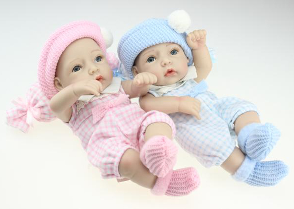 ФОТО Full Silicone Doll Set Boy and Girl Twins Alive 10