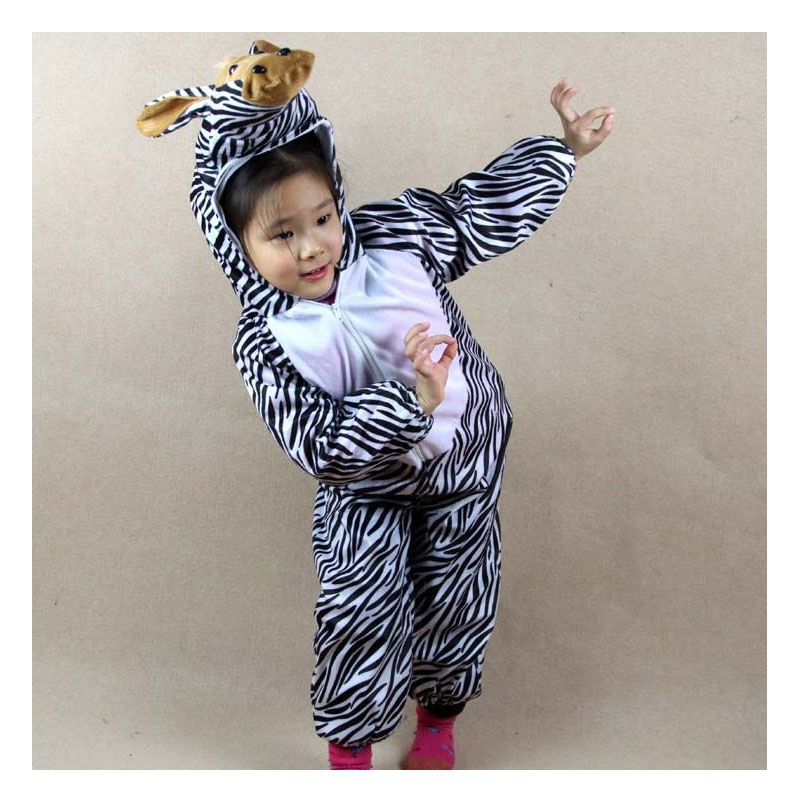 Umorden Kanak-kanak Kanak-kanak Gadis Gadis Boys Kartun Haiwan Zebra - Kostum karnival - Foto 4