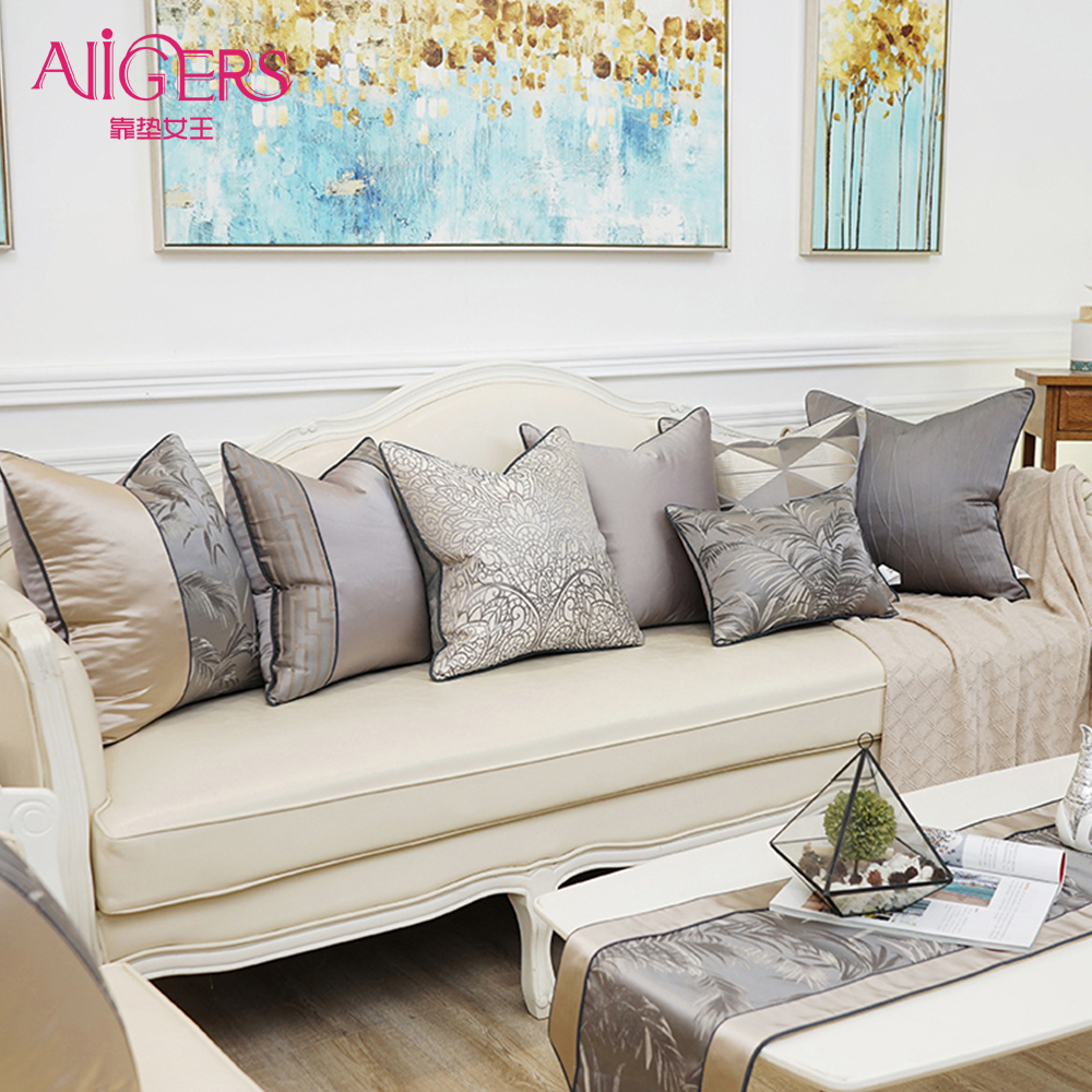 Us 10 99 40 Off Avigers Square Luxury Home Decorative Pillows Cases Gray Silver Patchwork Cushion Covers For Sofa Bedroom Living Room Cars In