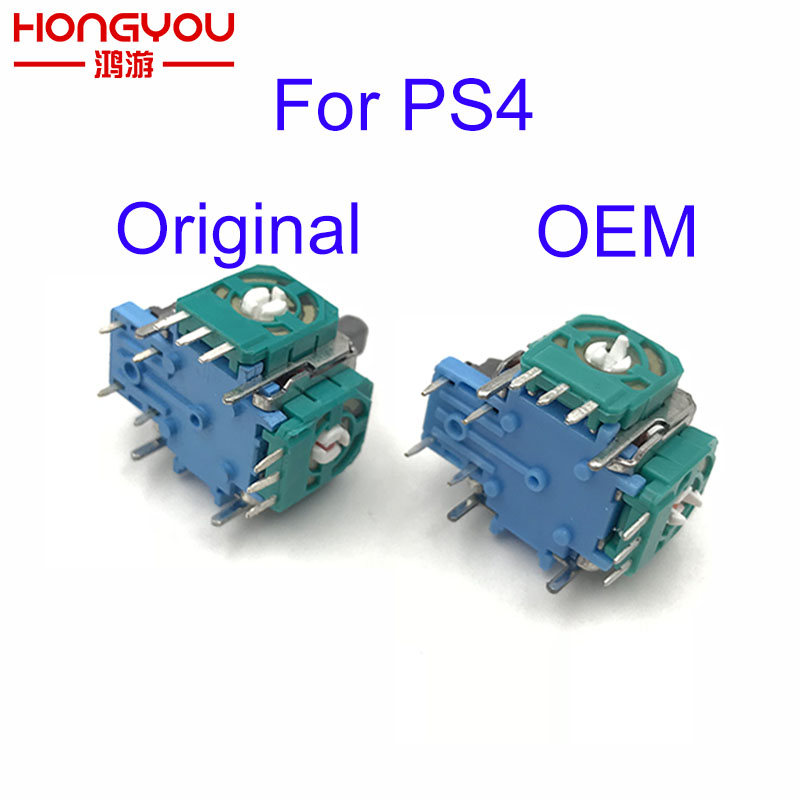 100pcs 3D Analog Axis 3D Joystick Module Potentiometer For Playstation 4 PS4 Controller Repair Color Random