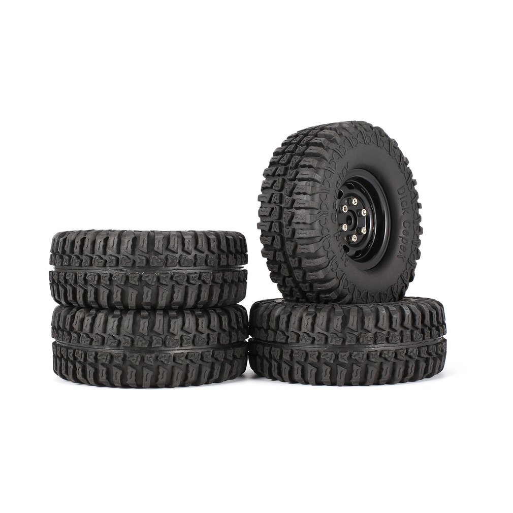 4Pcs AX-3020 1.9 Inch 110mm Rubber Tires Tire with Metal Wheel Rim Set for 1/10 Traxxas TRX-4 SCX10 RC4D90 RC Crawler Car Parts 4pcs 1 9 rubber tires