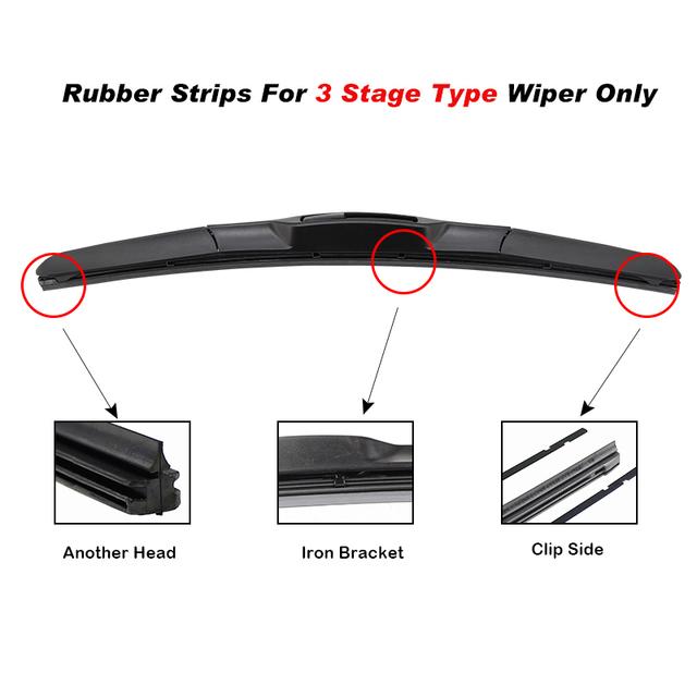 BEMOST 1pcs Car-Styling Windshield Wiper Insert Rubber Strip (Refill)8mm Soft 14″ 16″ 17″ 18″ 19″ 20″ 21″ 22″ 24″ 26″Accessories