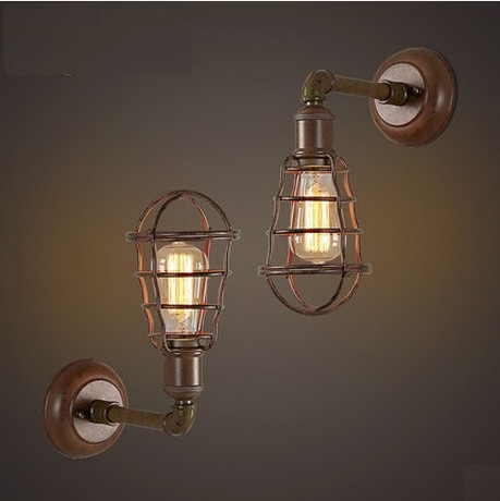 American Loft Style Edison Wall Sconce Industrial Vintage Wall Light Fixtures For Bedside Antique Water Pipe Lamp Lampara Pared loft style iron edison wall sconce industrial lamp wheels vintage wall light fixtures antique indoor lighting lampara pared