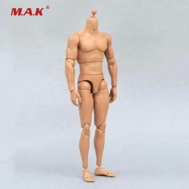 1/6 Male Narrow Shoulder Nude Body Action Figure Without Head Model Doll Toys Gifts Collections