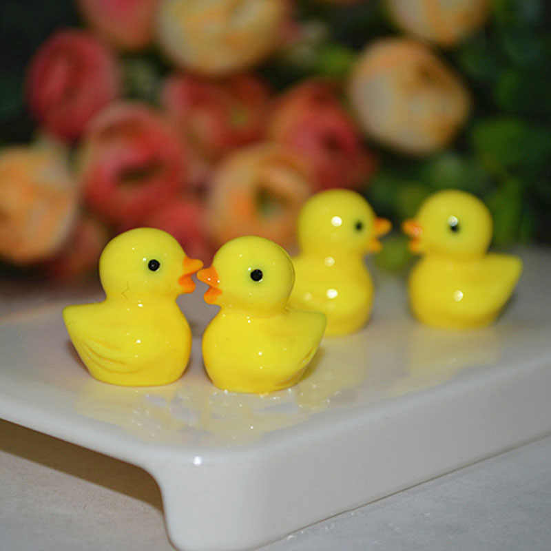 6Pcs/Lot Yellow Duck Diy Lizun Slime charms Supplies Accessories For Slime Filler Miniature Resin Kids Polymer Plasticine Gift