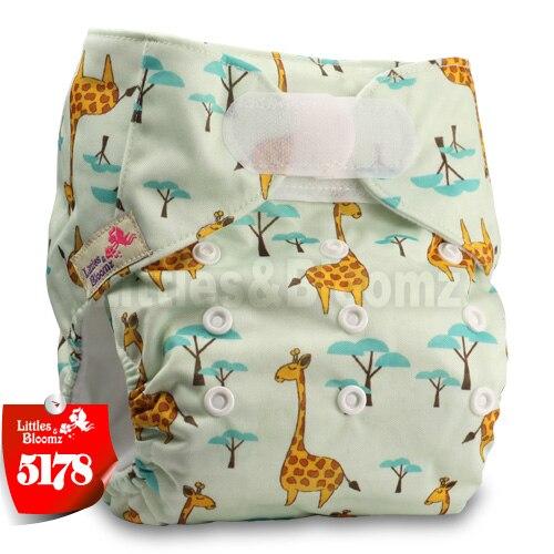 [Littles&Bloomz] Детские Моющиеся Многоразовые, настоящая стандартная ткань, застежка-липучка, карман для подгузников, пеленки, обертывание, подходит для рождения в горшке - Цвет: 5178