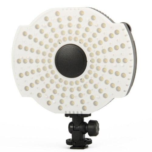 NanGuang CN-126B LED Video Camera Microphone Mount Lamp with Filters 3200K/5400K 128pcs led lights цена и фото