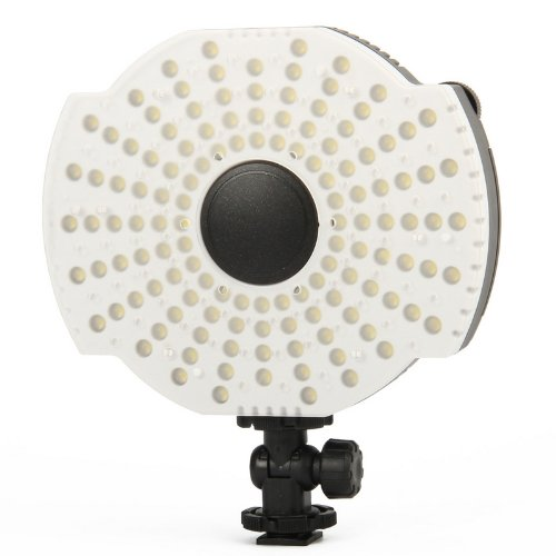 NanGuang CN 126B LED Video Camera Microphone Mount Lamp with Filters 3200K/5400K 128pcs led lights