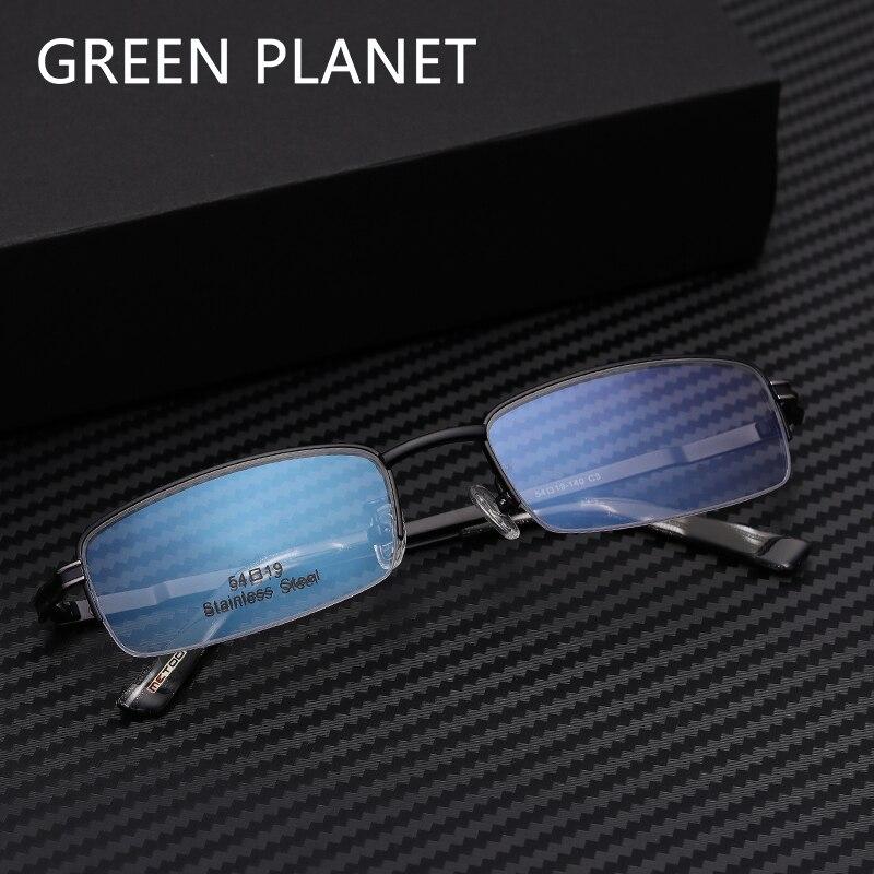 Metal Men Optical Eye Glasses Half Rim Fashion Designer Brand Metal Decoration Safety Round Computer Eyewear Frame #MT8009