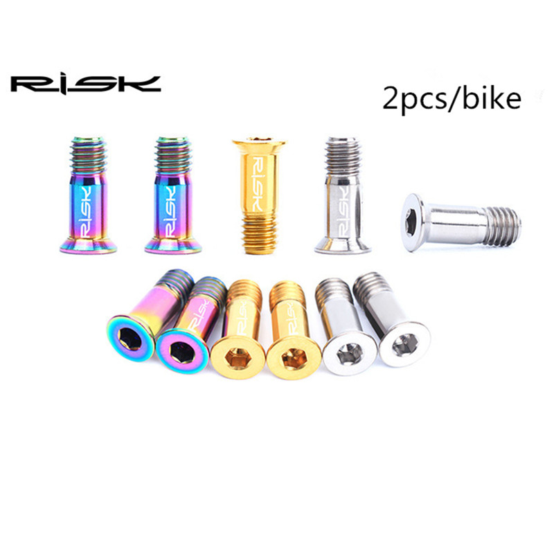 M5 * 14.2 RISK Bicycle Titanium Aloyy Guide Wheel Bolts - Հեծանվավազք - Լուսանկար 3