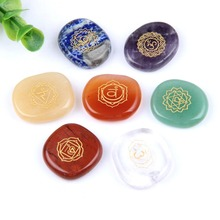 7 Chakra Stones Set Natural Palm Stone and Crystal Reiki Healing Gem Stones Crystals with Free Shipping EN0626SY high quality gold glitter italy matching shoes and bag set with shinning stones with free shipping for mm1014