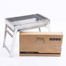 Outdoor foldable portable steel charcoal barbecue grill bbq