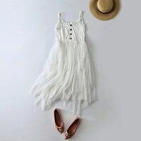 2018 irregular full slip guaze skirt female spaghetti strap lace underskirt medium long high waist slim petticoat