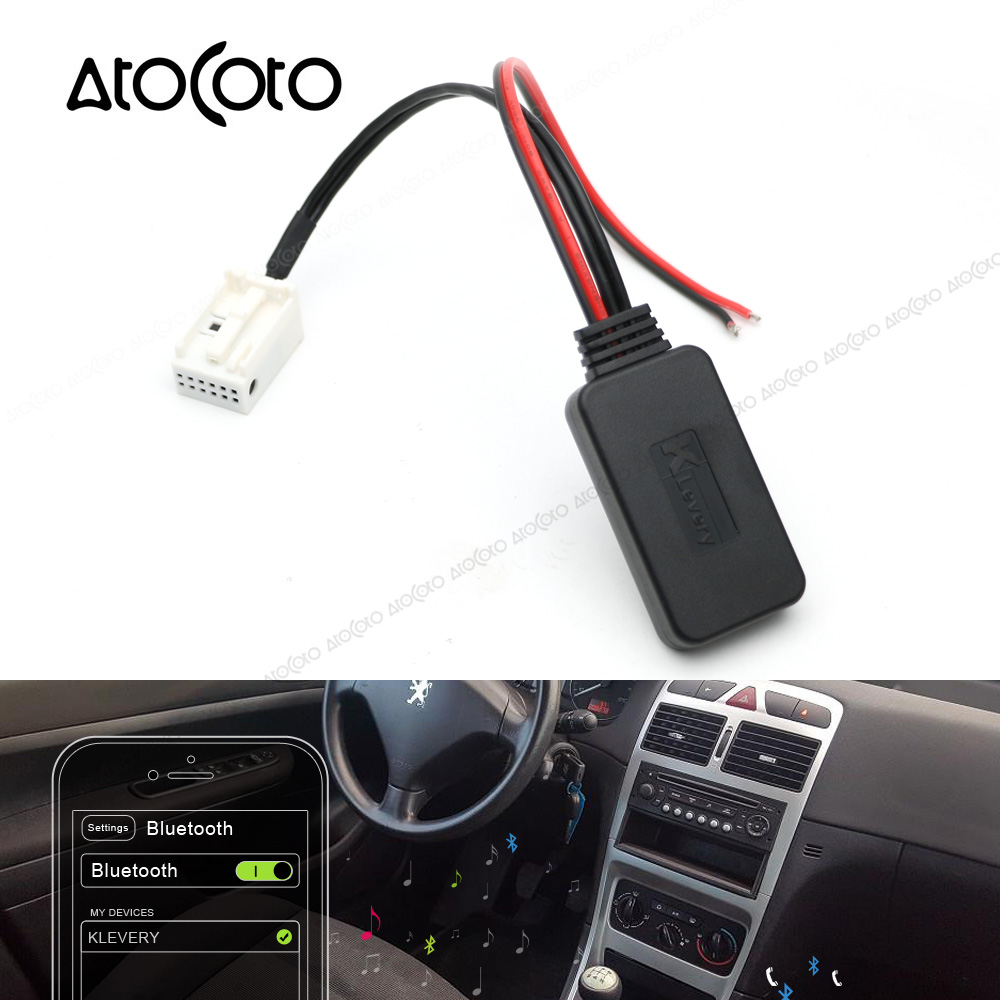 Dual Audio Car Stereo 12 Pin Wiring Harness Vehicle Diagrams Radio Diagram Bluetooth Aux Receiver For Peugeot 307 407 Rd4 Cable Adapter Wireless Subaru Forester Pinout