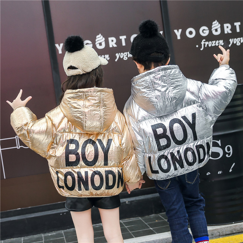 Children Winter Down Coat 2018 Silver Gold Kids Outerwear Casual Hooded Thick Boy Down Coat Fashion Girls Parka Jacket Snowsuit les enfantsfashion girls winter thick down jacket sleeveless hooded warm children outerwear coat casual hooded down jacket