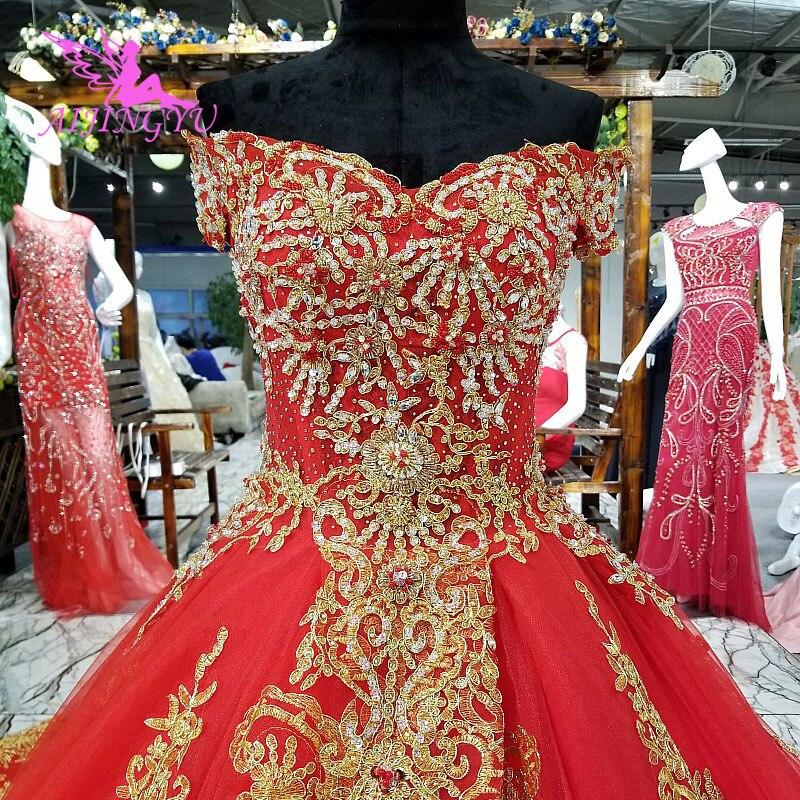AIJINGYU robes de mariée indiennes robe ivoire désherbage pour mariée livraison gratuite idées de princesse 2017 gants robes de mariée de moins de 500
