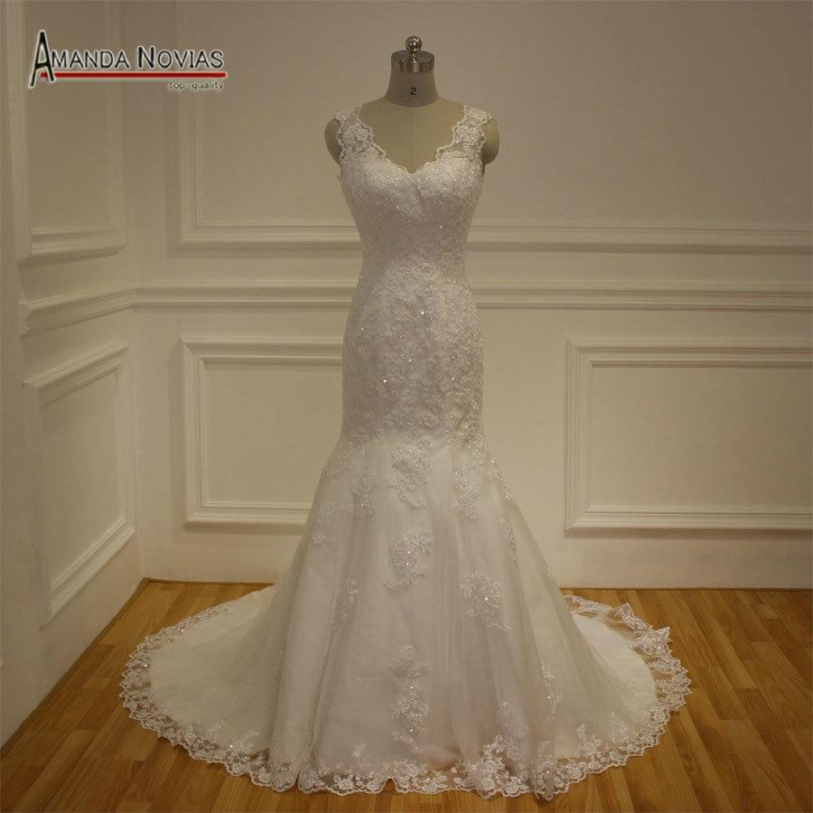 Lace wedding dresses china : China latest lace appliques vestido de noiva mermaid wedding dresses