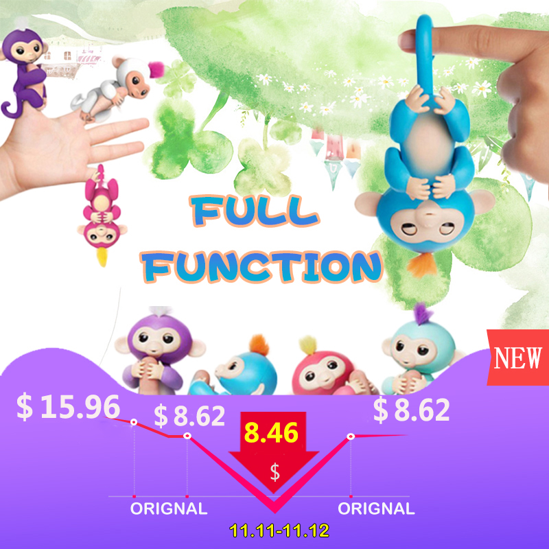 Happy monkey pack Finger baby Monkey Rose Interactive Baby Pet juguete inteligente Tip Monkey electrónico inteligente Pet finger monkey