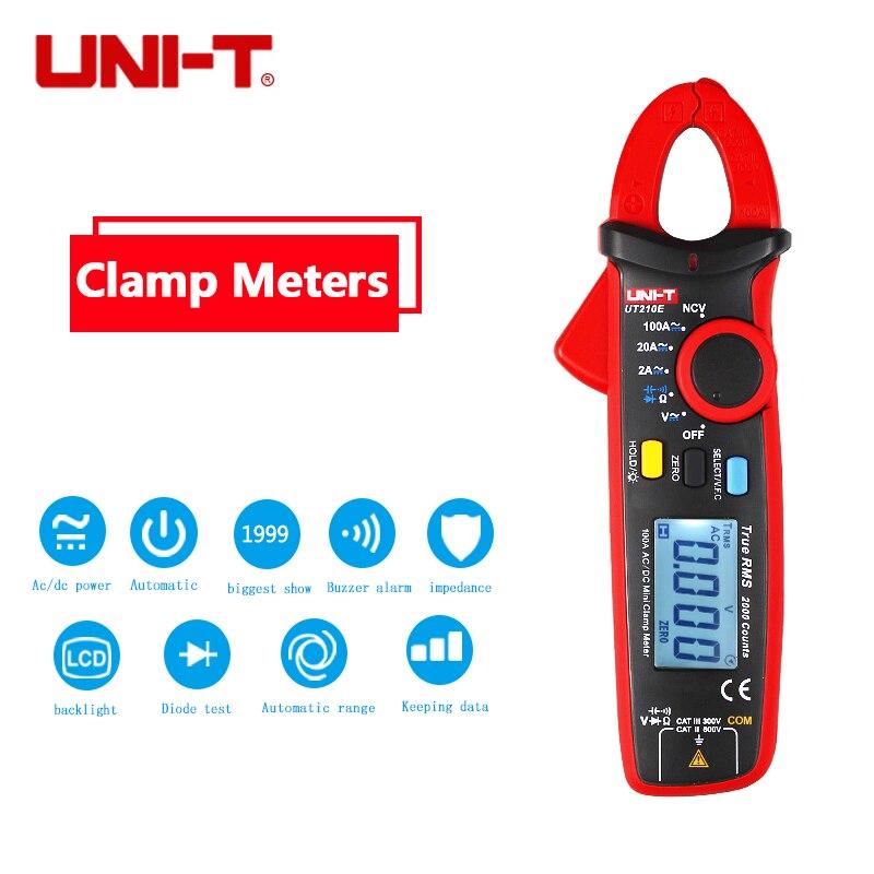 True RMS UNI-T UT210E Multimeter AC/DC Current Clamp Meters Capacitance Tester UT210E Digital DC Clamp Multimeters Clamp UT210E