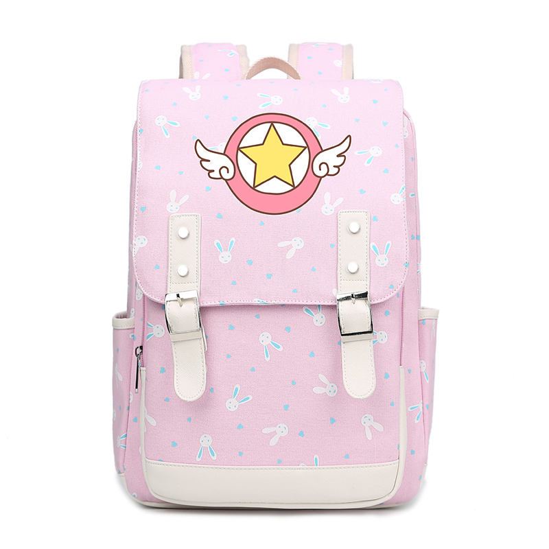 Girl Women Anime Card Captor Sakura Lolita Magic School bags students teenager maiden Bag Backpack as Gift FT japanese comic card captor sakura wings schoold backpack magical card girl sakura cosplay backpack sakura wings bag