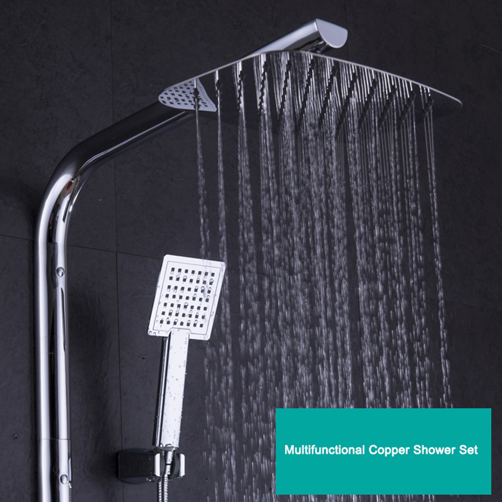 Bathroom Shower Sets Us 218 18 5 Off Lcd Digital Temperature Bathroom Shower Fixture Sets Faucets Water Tap Intelligent Thermostatic Rain Shower Head Sets In Shower