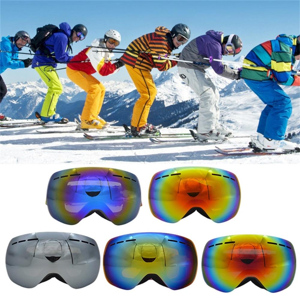 Prix pour Grand Sphérique Masque Double Ski Lunettes UV400 Anti Brouillard Grand Ski Lunettes Ski Hommes Femmes Neige Snowboard Coupe-Vent Lunettes