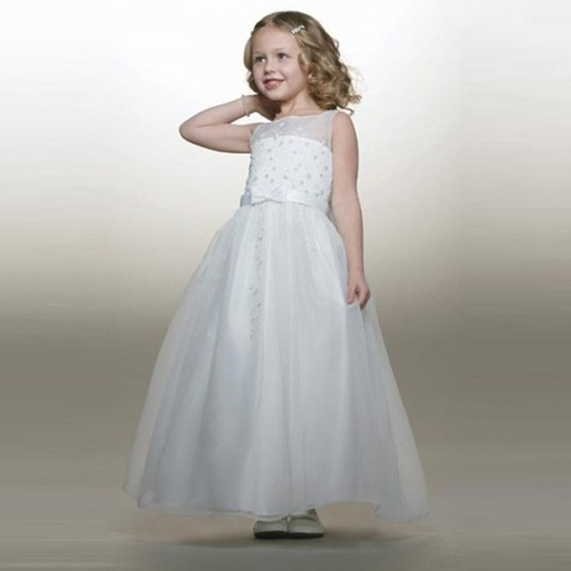 Lovely 2015 First Communion Dresses Girls Frock Designs Cute Ball Gown Bow  Sash Vestido De Daminha Infantis Flower Girl Dresses-in Flower Girl Dresses  from ... 4777549258e0