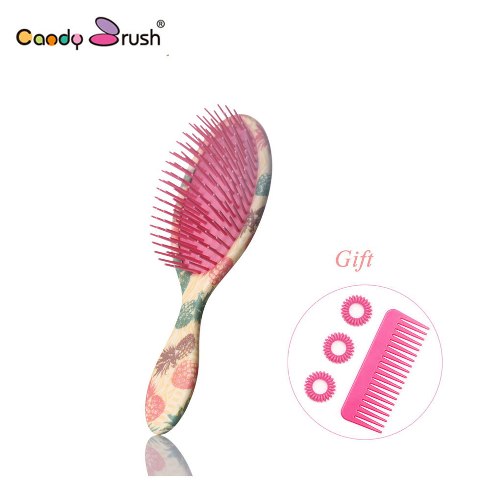 2019 Professional Massage Hair Brush Shower Comb Wet Detangling Hair Brush Salon Hair Styling Tools with Two Gifts (Medium Size)