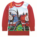 Kis Baby Boys  Thomas And Friends Trains Clothes Children  Spring Autumn 100% Cotton Long  Sleeve T Shirts