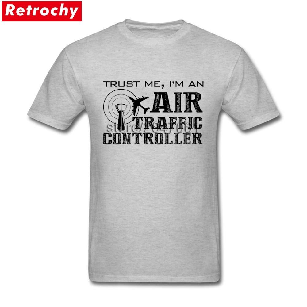 Summer Men's T-shirts Air Traffic Controller Short Sleeve Pure Cotton O Neck T-shirt For Adult Tees Shirt