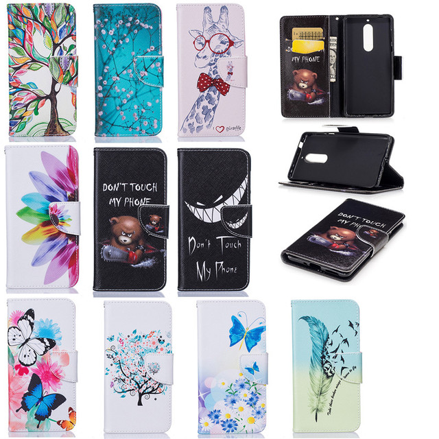 fe6c1bcaa2a Luxury Flip PU Leather Case for fundas Nokia 5 cover for coque Nokia 5 5.2