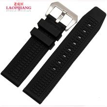 Laopijiang venda de reloj de goma correa de caucho de silicona para hombre 24 mm PAM111 reloj