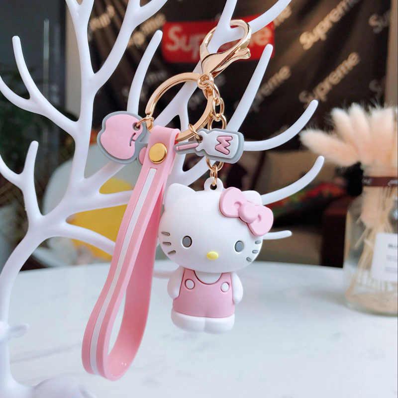 Japonês clássico animais bonitos dos desenhos animados (Olá Kitty etc) Keychain/Keyring o presente para sua namorada, esposa ou filhos