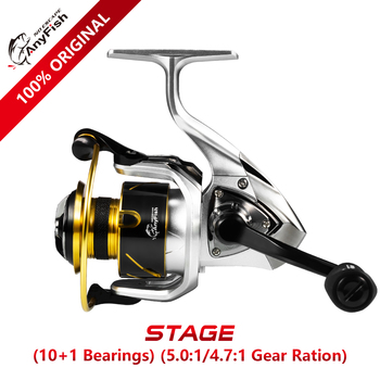 Anyfish STAGE Spinning Fishing Reel 2000/3000/4000/5000/6000 model Gear ratio 5.0:1/4.7:1 Max drag 6kg/8kg 10+1 ball bearings