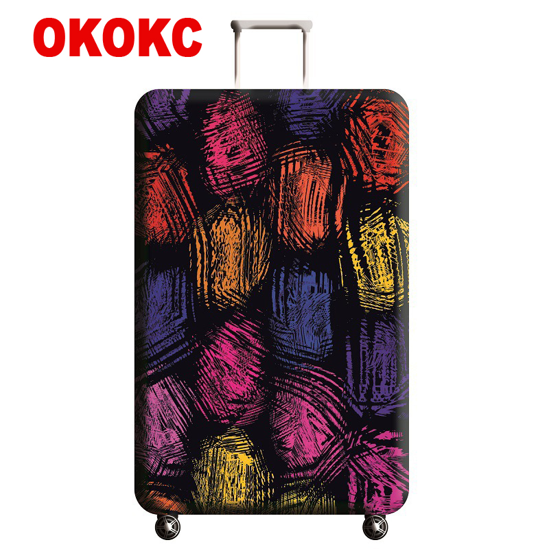 OKOKC Colorful Elastic Luggage Protective Cover For 19-32 Inch Trolley Suitcase Protect Dust Bag Case Cartoon Travel Accessories