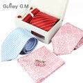 New Classic magro laços Gravatas Para Homens Xadrez Listrado Gravatas de Homem para o casamento vermelho Masculino black tie Gravatas de Alta Qualidade